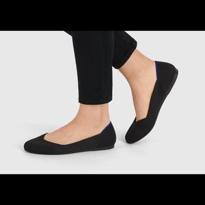 Rothy's Signature Round Toe Solid Black Flats